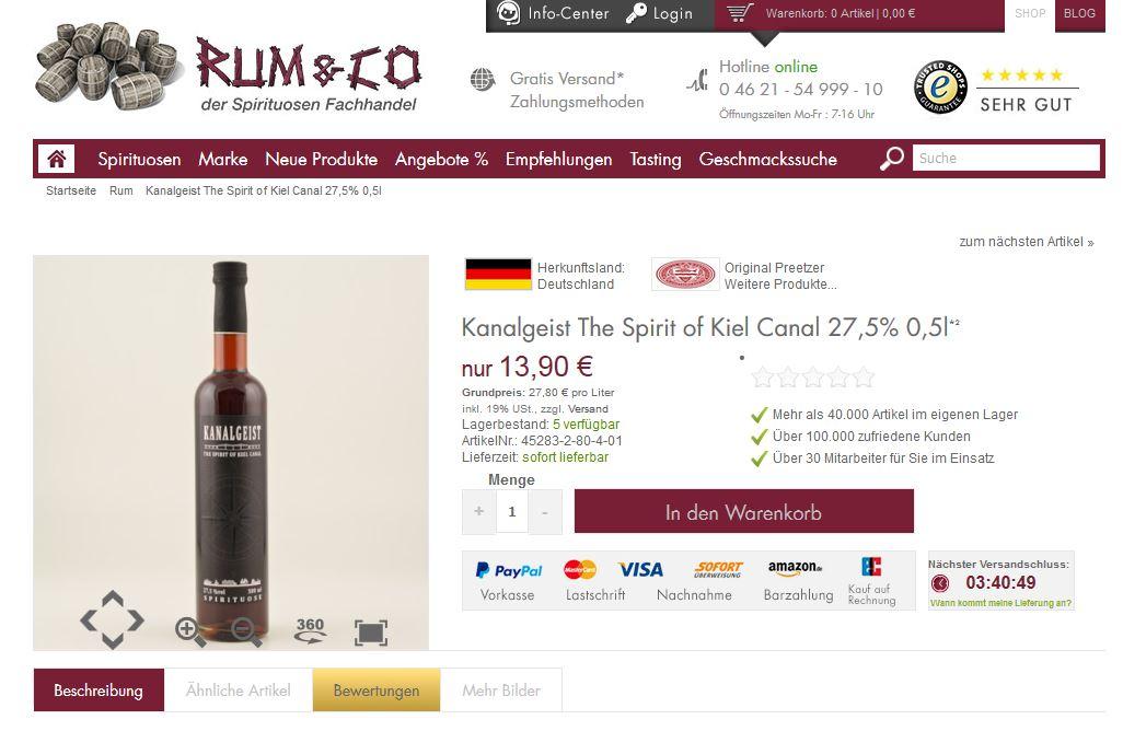 Kanalgeist jetzt auch bei Rum&Co